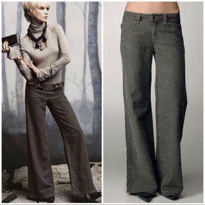 Paige Hillhurst Wide Leg Tweed Trouser Jeans Sz 30